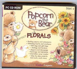 Florals Popcorn The Bear Craft CD Rom